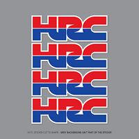 4 x HONDA HRC Stickers Decals - Honda Racing Corporation - 150mm x 51mm - 2357