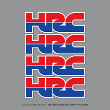 2357 -  4 x HONDA HRC Decals Stickers - Honda Racing Corporation - 150mm x 51mm