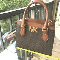 Michael Kors Women Leather Crossbody Handbag Bag  Shoulder Purse Messenger Brown