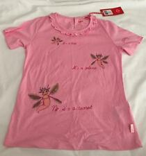OILILY - DESIGNER GIRLS SIZE 122/8 YEARS PINK RUFFLE T SHIRT/TOP - NWT