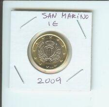 2009 1€  SAN MARINO 1 €  1 Euro Bimetallic Coin BEAUTIFUL UNCIRCULATED  & SCARCE