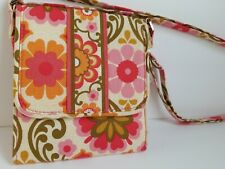 Vera Bradley Pink Floral Crossbody Wallet Hipster Shoulder Mini Purse Bag NWOT