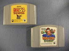 Donkey Kong 64 & Diddy Kong Racing ~ 2 Game Lot ~ Nintendo 64 N64 ~ Japan Import