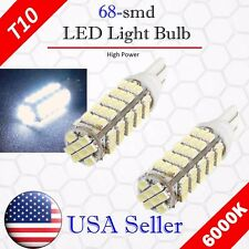 2x 6000K Xenon White LED T10 921 912 AOT 68SMD Backup Reverse Light Bulb