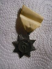 Vintage 1963 National Open Gymnastics Baton Twirling Medal Ribbon Pin Utica Ny