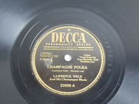 "Lawrence Welk Champagne Polka / Home Again Decca Record E 78 Folk 1947 10"" 23856"