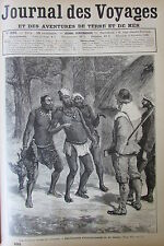 JOURNAL DES VOYAGES N° 695 de 1890 AFRIQUE ANTHROPOPHAGE / CHASSE OURS AUSTRALIE
