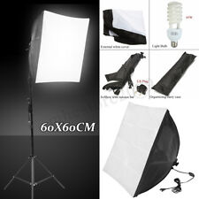 Photo Studio Set Photography Continuous Lighting Softbox Kit W/ Bulb Light