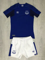Boys kids Everton home football kit size LB/152 Umbro 2017-2018