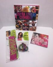 NEW Zumba Fitness Exercise Set 2 CD, Cookbook, Headbands, Bracelets 4 Piece LOT