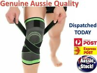 Weaving 3D Knee Brace Breathable Sleeve Support Running Jogging Joint Pain  OZ
