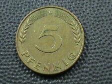 WEST GERMANY  5 Pfennig  1950  -  D  ,  $ 2.99  Maximum  shipping  in  USA