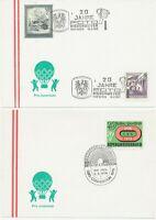 ÖSTERREICH 1975/8, 8 versch. SST (FIRMEN-)WERBUNG auf Kab.-Postkarten, selten