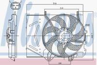 Nissens Radiator Fan 85986 Fits CITROEN DS3 1.6 01/09-01/15