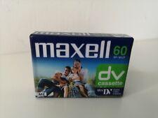 MAXELL 60DV CASSETTE - MINI DIGITAL VIDEO CASSETTE - ( NEW & SEALED )