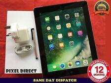 GRADE A Apple iPad 4th Generation 128GB, Wi-Fi, 9.7in - Black iOS 10 - Ref 101
