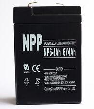 NPP 6V 4ah 6Volt 4amp Rechargeable Sealed Lead Acid Battery for alarm system