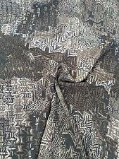 Stoff bedruckter Chiffon, anthrazit grau für Blusen, Sommerkleider