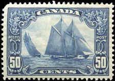 Mint H Canada 50c 1929 F-VF Scott #158 King George V Scroll Stamp