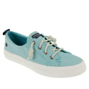 """""""AS IS"""" Sperry Crest Vibe Washed Linen Laced Sneaker 650445-J"""