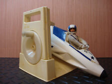 Vintage 1973 Ideal Evel Knievel Canyon Sky Cycle and Figure with Launcher