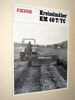 Brochure Tracteur FAHR KREISELMAHER  traktor tractor prospekt prospectus