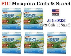 5 Box! PIC Mosquito Repellent Coils- Patios, porches, Outdoor use Mosquito Coils