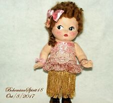 ANTIQUE RARE 1920's KEWPIE BETTY BOOP COMPOSITION 12'' HEIRLOOM FLAPPER DOLL