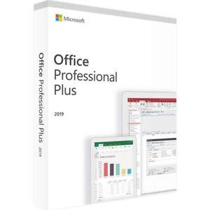 Microsoft Office Professional Plus 2019 Retail DVD+Key 1 PC [Sealed] Pro Plus