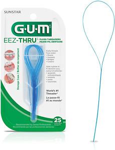 GUM EEZ-Thru Floss Threaders, 25 Count Pack of 6