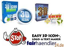 ►► logiciel Graphique 3d Icons Pack Paquet v1 v2 Logo textmaker Geil Bannière E-Licence