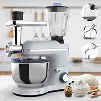 6 Speed 3in1 Stand Mixer 7QT Tilt-Head Electric Kitchen Food Mix Machine Silver