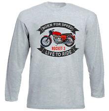 BSA Rocket 3-gris à manches longues T-Shirt-Toutes les tailles en stock