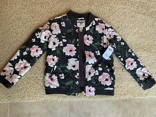 Osh Kosh B'gosh Floral Bomber Jacket Girls Size 8 New