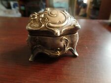 """2"""" Tall Antique Sterling Silver English Snuff Box-No Markings #3499"""