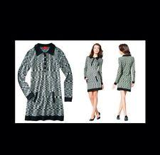 Missoni for Target Women's Black/White Spacedye Polo Sweater Shirt Dress - XS