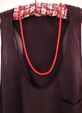 Touch of Drama.. Vintage Red Glass Bead Necklace - Old Shop Stock