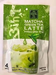 Instant Matcha Green Tea Latte Mix 'RANONG TEA' 3in1 (4 sachets)