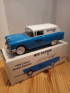 Chevrolet 1955 wix filters delivery Bank 1/25 scale. Diecast metal. By Liberty