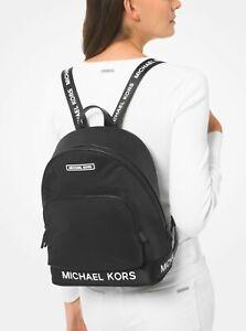 * TEST Sport Large Logo Tape Black Nylon Backpack 38S0CP7B7C NWT $278 FS