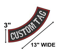 "Custom Embroidered 13"" Side Rocker Vest Patch Motorcycle Biker Patch Club (B)"