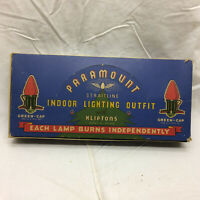 Vintage Christmas Paramount Indoor Lighting Outfit 7 Lights GE In Box Kliptons