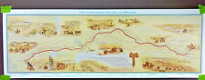 Pony Express Route Centennial Poster American Pioneer Trails Assoc Old West 1960