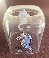 Clear Plastic Seahorse ,Square Tissue Box Cover