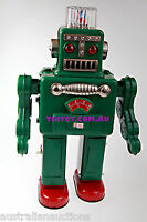 ROBOT CLASSIC SMOKING ROBOT  RETRO COLLECTORs TIN TOY ROBOT TOY