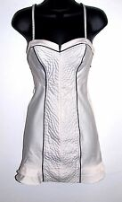 Guess Womens Size Small Sleeveless Stretch Corset Dress Ivory