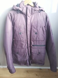 DKNY Purple Mens Duck Feather Down Quilted Jacket -Size M - New Cost £199