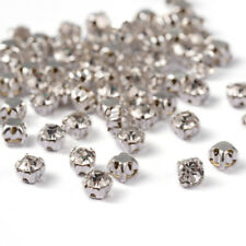 100pcs Square Brass Grade A Rhinestone Beads Montee beads Grade A Silver Crystal