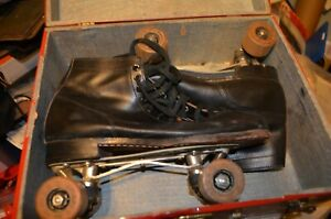 Chicago Roller Skate Co Ware Bros Pat 8/15/1914 w/ No. 87 Wood Wheels