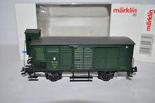 Marklin 4882 (.1 variation) - 2-axle Flat Roof Boxcar w/Brake Cabin- NEW in Box